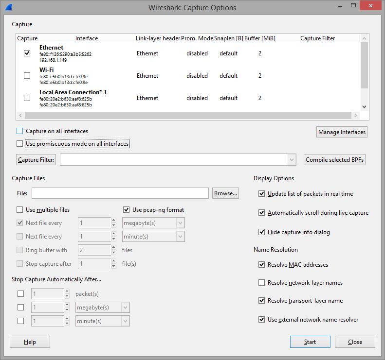 Wireshark_ Capture Options