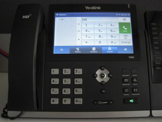 make calls yealink t48 t46