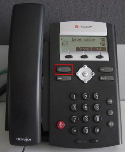 make calls polycom 335