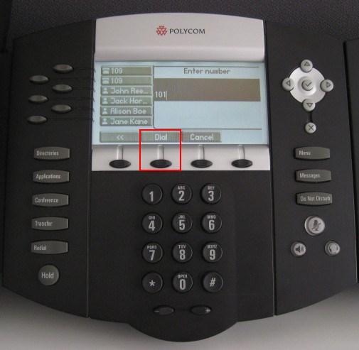 make calls polycom 650