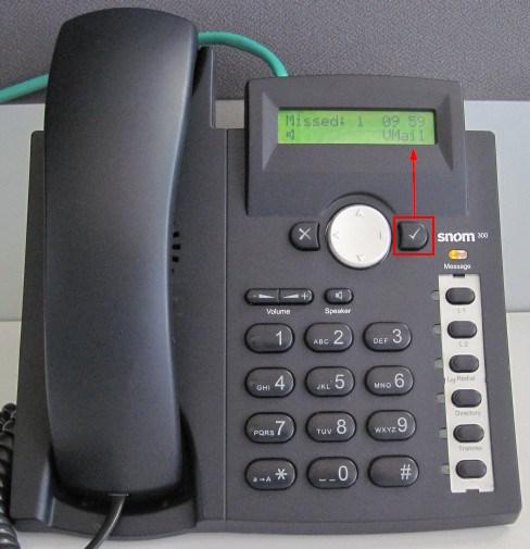 how to check your voicemail using snom 300 phones rh 3cx com snom 300 user guide Snom 320
