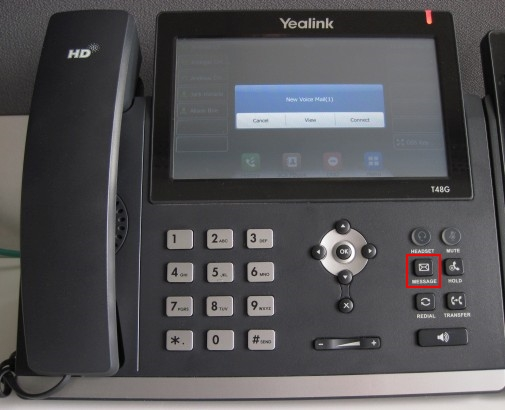 voicemail yealink T48 T46