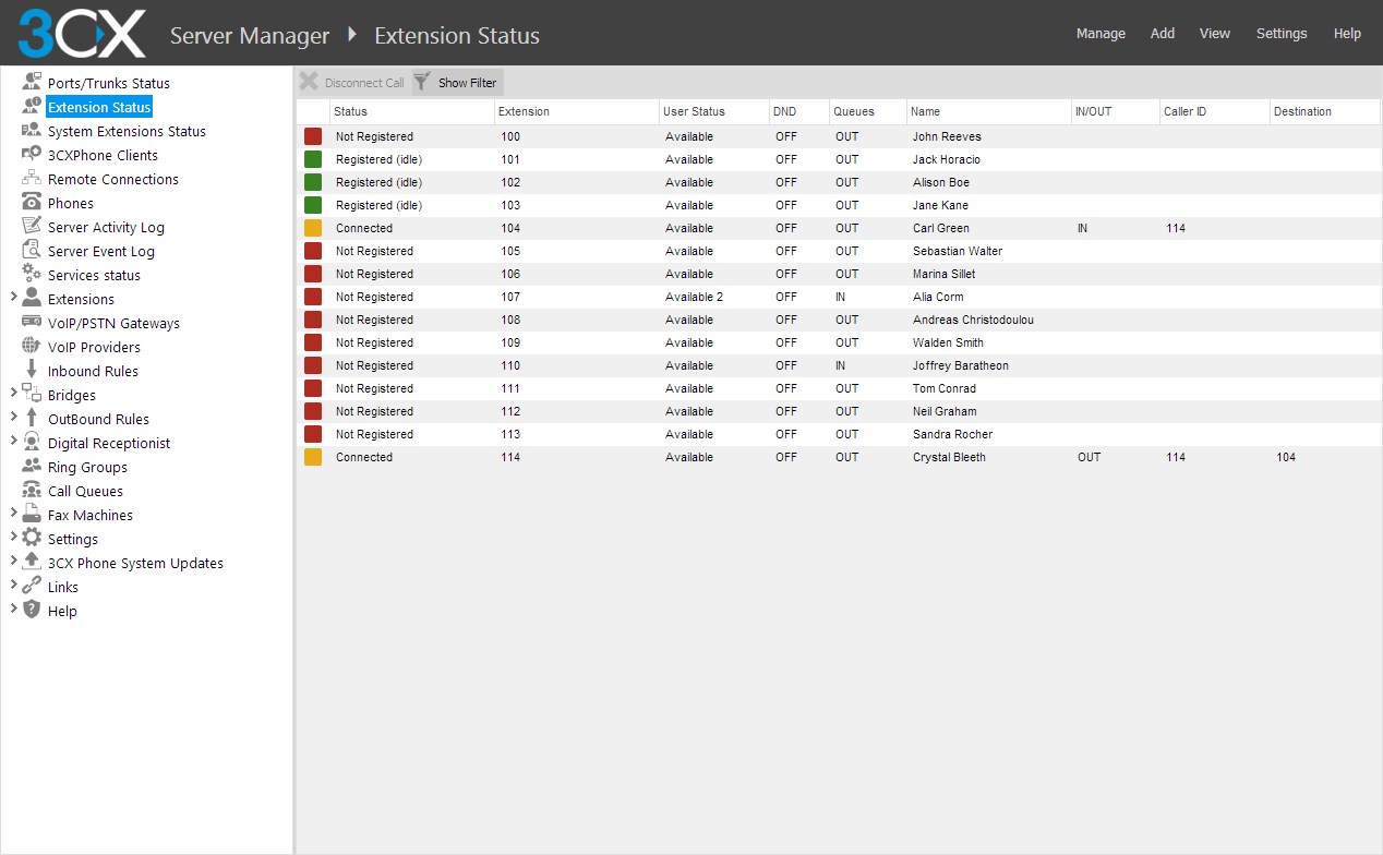 3CX Web Management Console