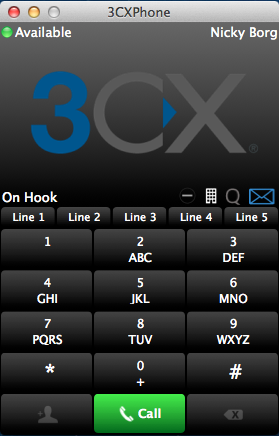 New Alpha build of the 3CXPhone for Mac OS client
