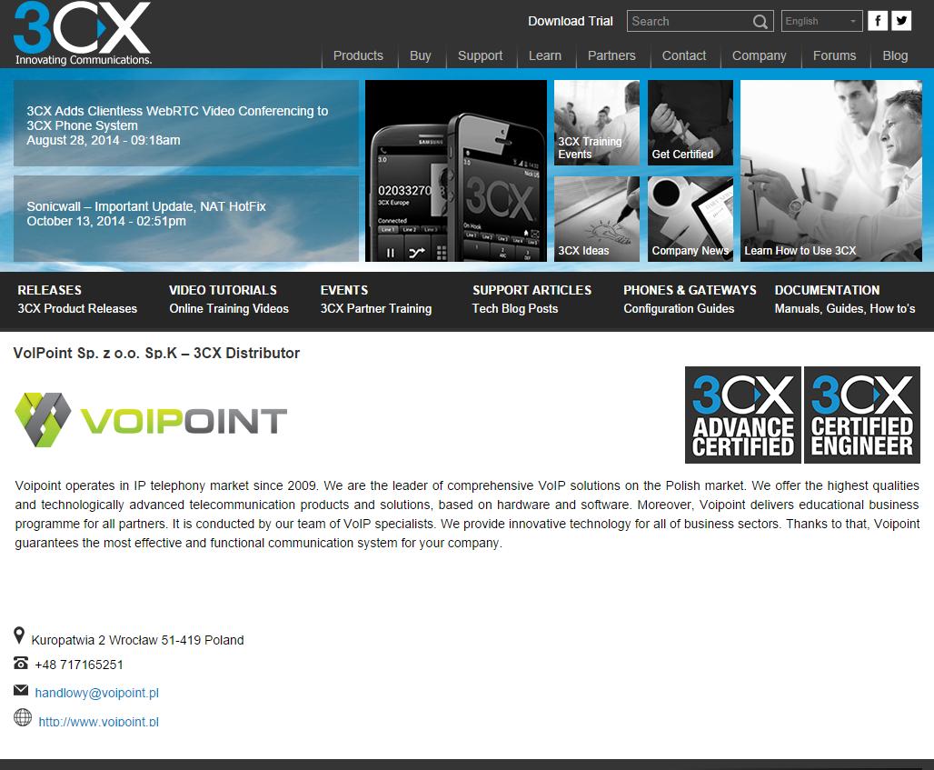 partner profile page sample
