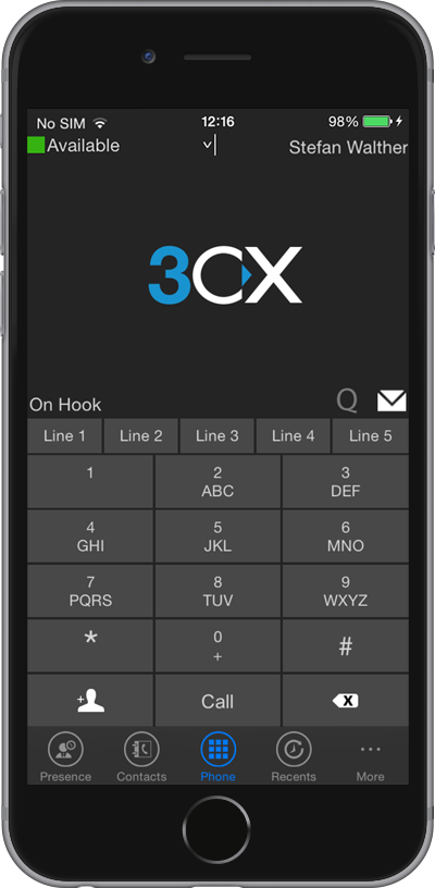 3cx phone client