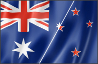 Australia New Zealand Flag Training Graphic