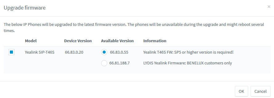 Get the latest Yealink firmware from the 3CX Management Console