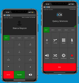 Easily transfer your calls with the 3CX Apps