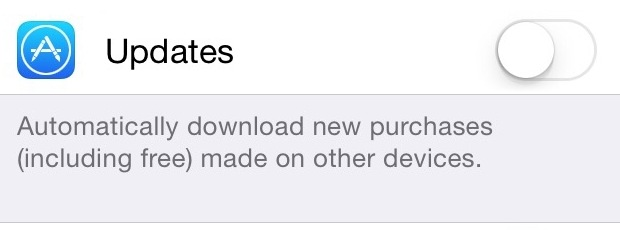 iOS App Store Disable Updates