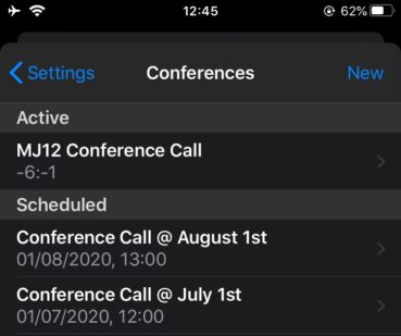 Tips & tricks to get the most out of the New iOS App: Schedule conferences.
