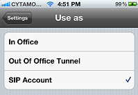 3CX Phone for iPhone - SIP Account