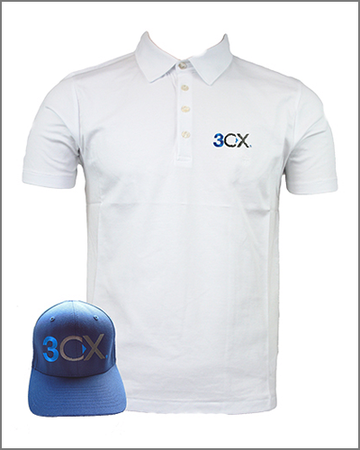 Get 3CX Certified and receive a 3CX polo shirt or cap