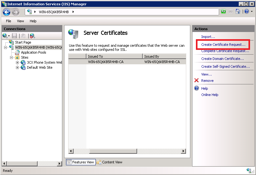 Guide On How To Configure 3cx Phone System 11 With Https Ssl On Iis 7
