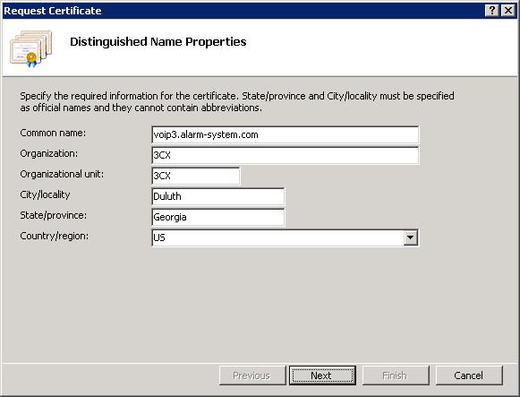 Setting Distinguished Name Properties in IIS