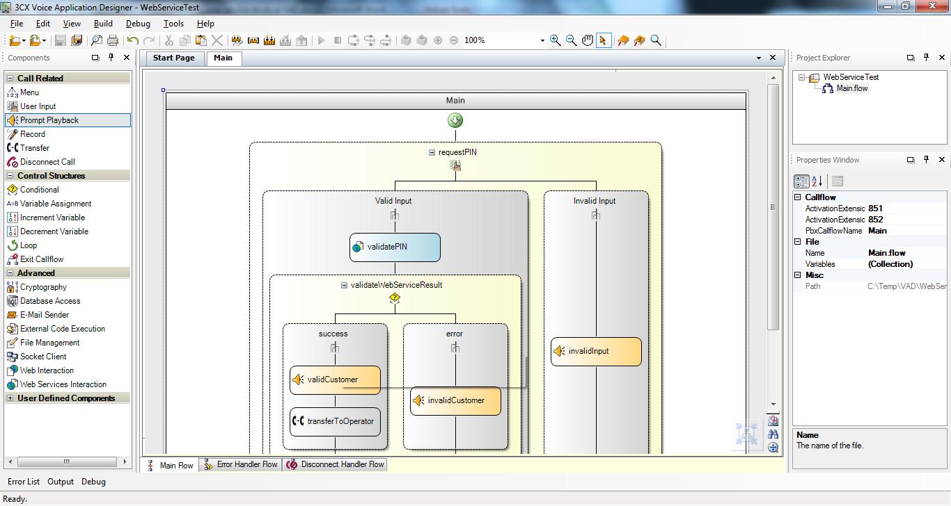 Mainflow Voice Application Designer