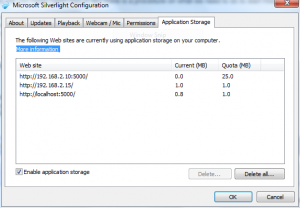 Clearing the silverlight cache