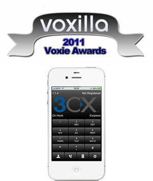 3CXPhone for iPhone wins Best iOS VoIP 2011 Award